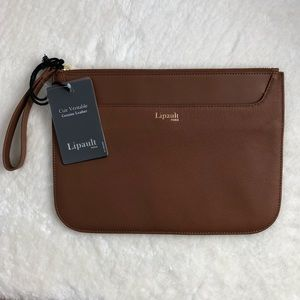 Lipault Leather Clutch